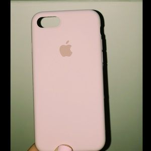 Apple iPhone 8 or 7 Case Pink Sand Silicone NEW